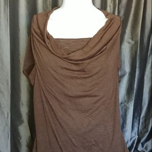 Coldwater Creek 1X top brown short sleeved used